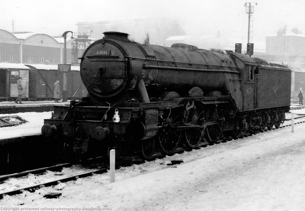 60111 Enterprise Kings Cross Gresley A3 in the snow