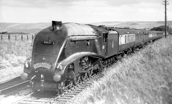 60027 Merlin down 'Capital Ltd' Cockburnspath 11th July 1952