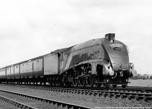 60033 Seagull near Darlington July 1949 up 'Capitals Limited' express