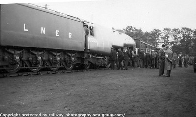 LNER Display 10000, 4472 + steam railmotor possibly Norwich on the 2nd May 1931
