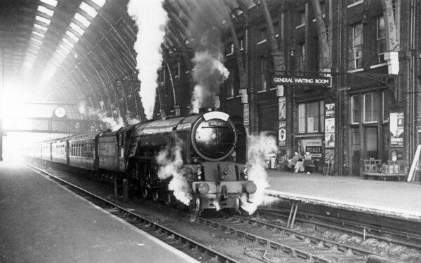 60119 Patrick Stirling arriving at Kings Cross c1950 with the 'Queen of Scots' Pullman