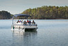 This is one of 5 pontoon boats that LNWC provided to view wildlife on the lake.
