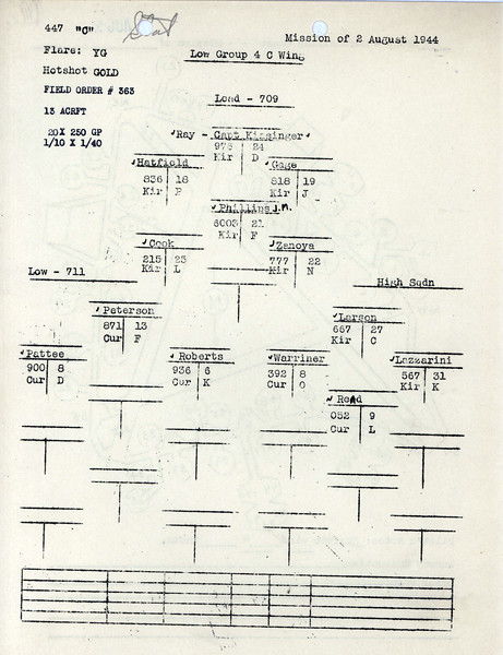 AUG 2 1944 FORMATION 1