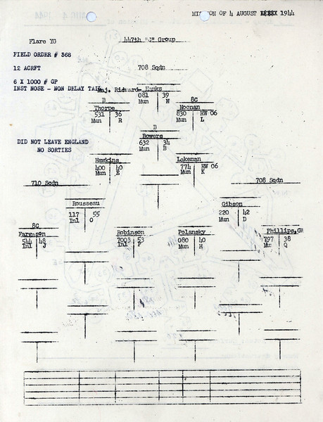 AUG 4 1944 FORMATION 3