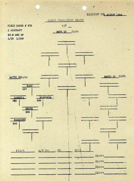AUG 5 1944 FORMATION