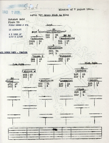 AUG 7 1944 FORMATION 1
