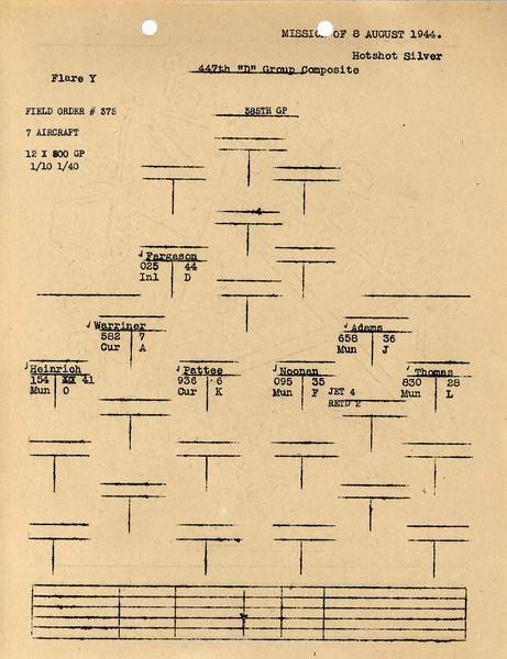 AUG 8 1944 FORMATION 3