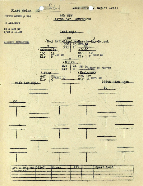 AUG 9 1944 FORMATION 2