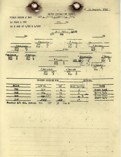 AUG 14 1944 FORMATION 1