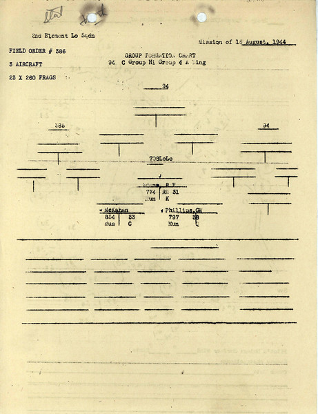 AUG 15 1944 FORMATION 1