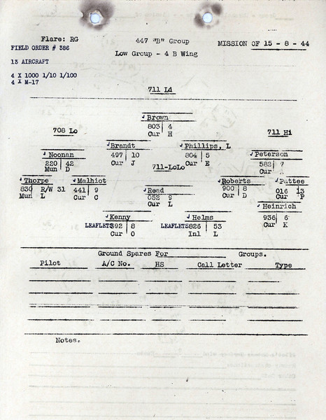 AUG 15 1944 FORMATION 3