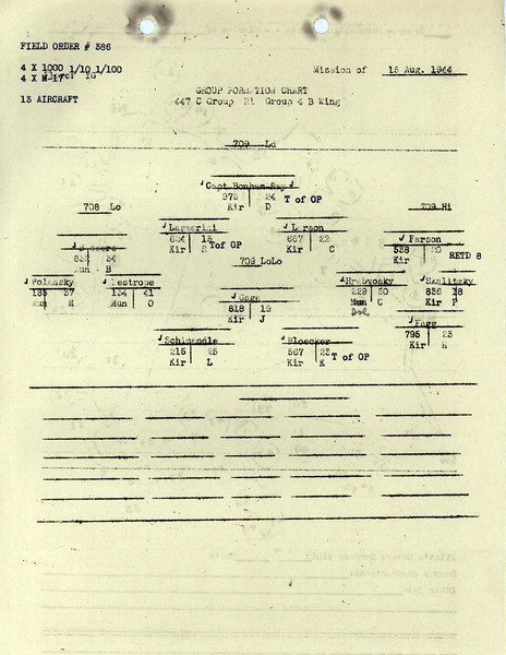 AUG 15 1944 FORMATION 4