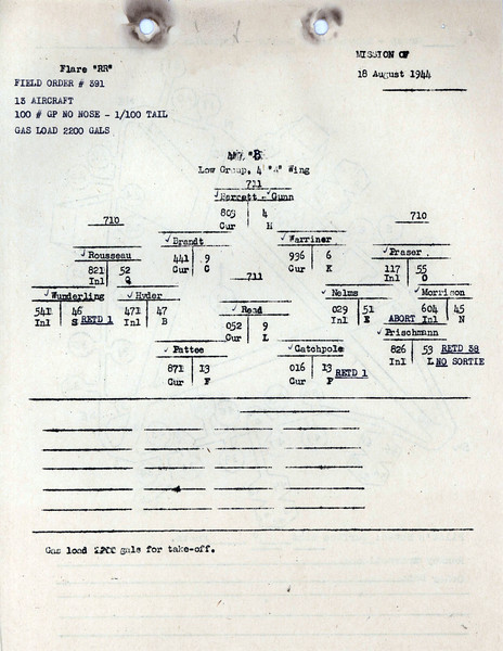 AUG 18 1944 FORMATION 2