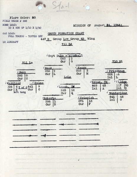 AUG 24 1944 FORMATION 2