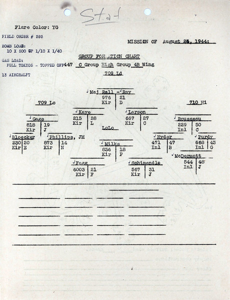 AUG 24 1944 FORMATION 3