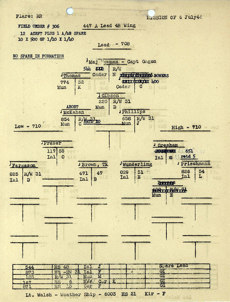 JULY 6 1944 AM FORMATION 2