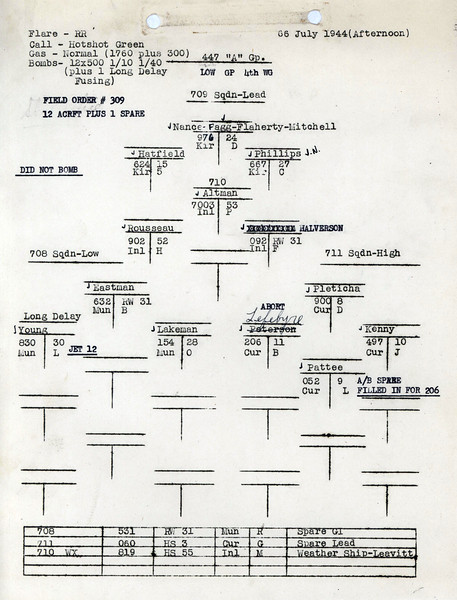 JULY 6 1944 PM FORMATION