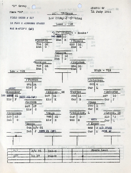 JULY 11 1944 FORMATION 2