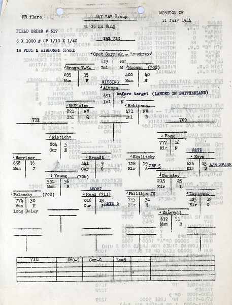 JULY 11 1944 FORMATION 1