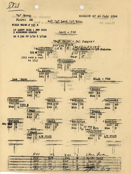 JULY 18 1944 FORMATION 1