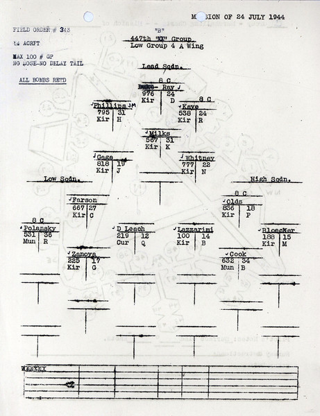 JULY 24 1944 FORMATION 2