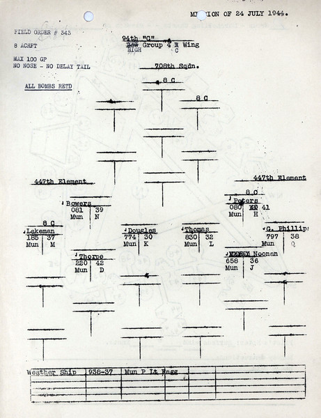JULY 24 1944 FORMATION 4