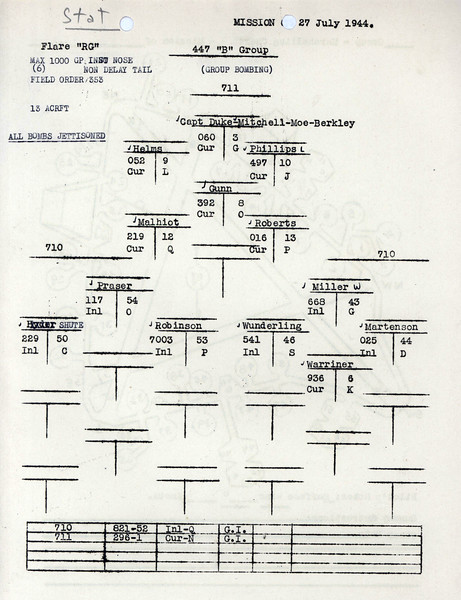 JULY 27 1944 FORMATION 1