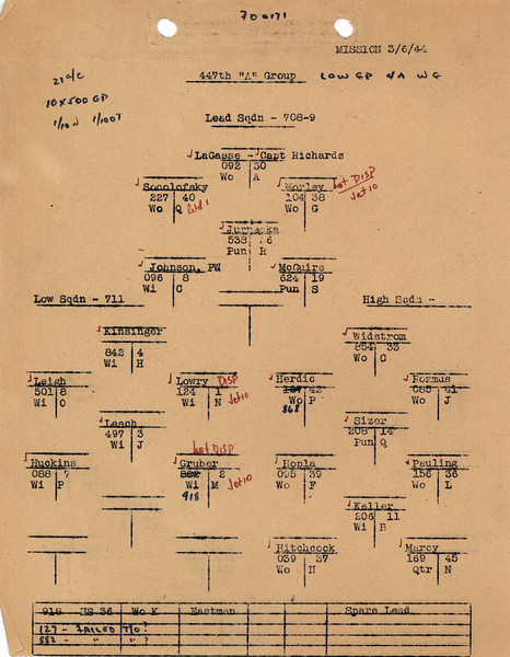 MARCH 6 1944 FORMATION 1