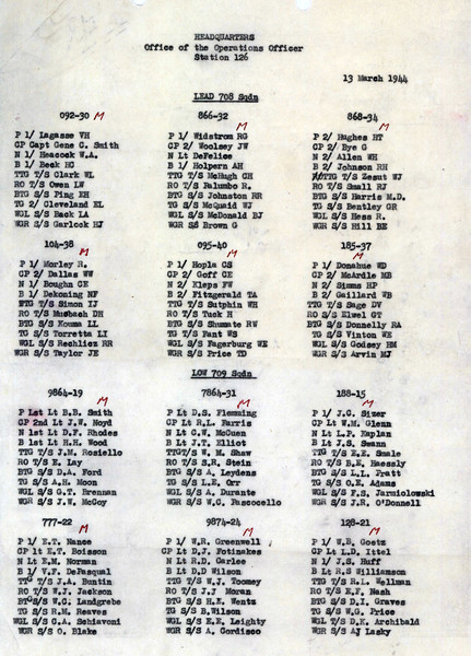 MARCH 13 1944 708SQ and 709SQ