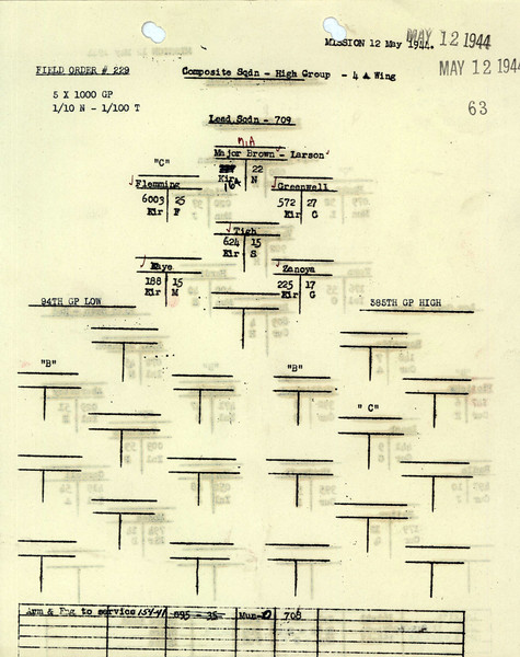 MAY 12 1944 FORMATION 2
