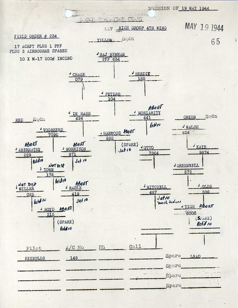 MAY 19 1944 FORMATION