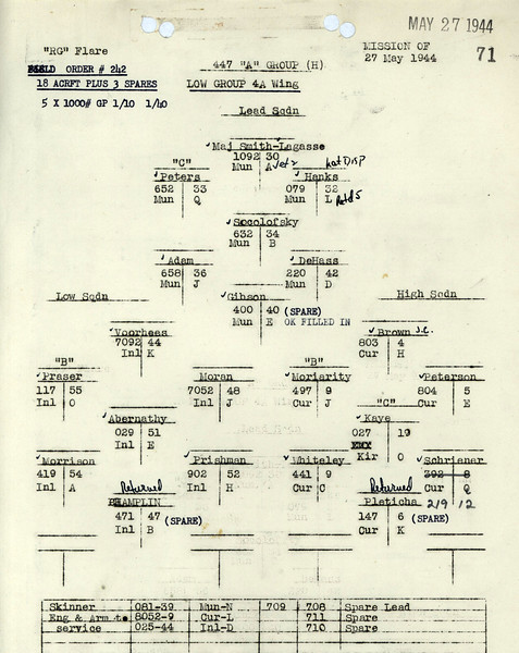 MAY 27 1944 FORMATION 1