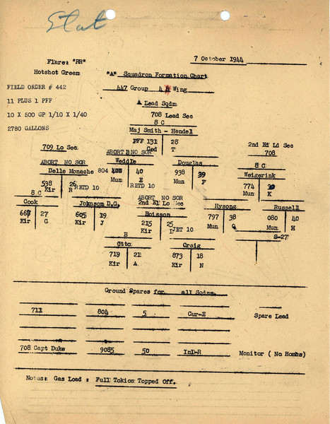 OCT 7 1944 FORMATION 1
