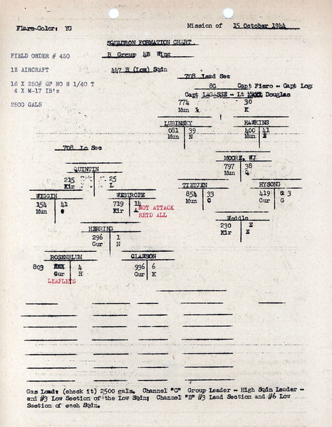 OCT 15 1944 FORMATION 2