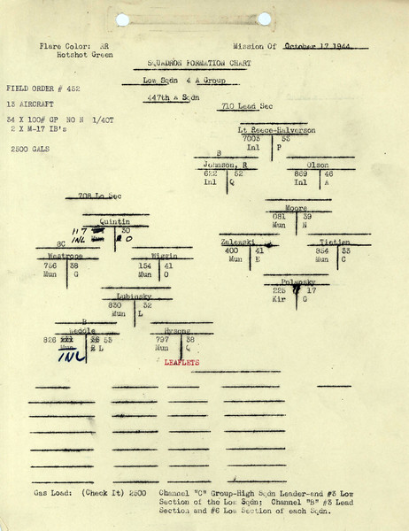OCT 17 1944 FORMATION 1