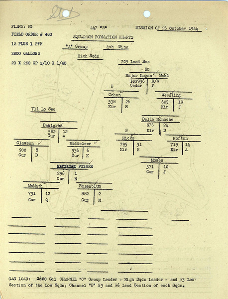 OCT 26 1944 FORMATION 2