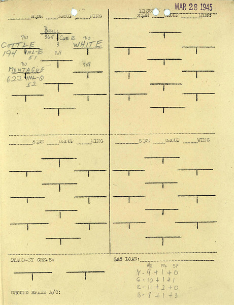 MARCH 28 1945  FORMATION4