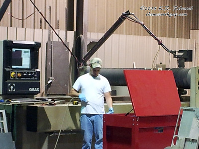 Chris at the Water Jet Mill