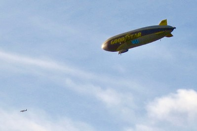 Hard to believe that the blimp is already up and flying