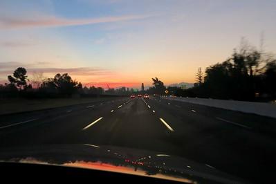 On the way to Pasadena at 6:15 AM