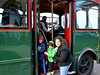 News-Herald photo — DEBBY HIGH<br /> Rose Hass and her sons, Jude, 3, and Solomon, 5, board the last trolley ride in Sellersville Sunday, Nov. 10.