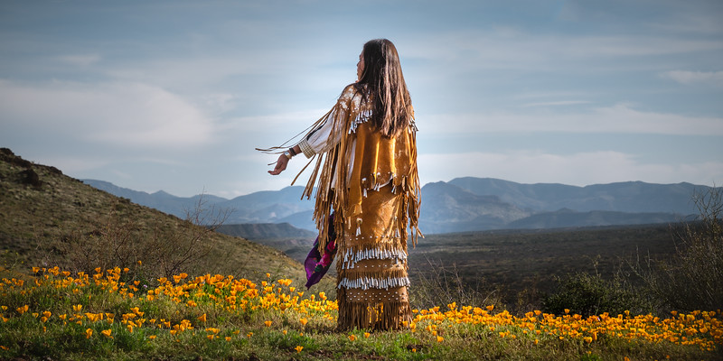 Apache Maiden Amongst the Poppies
