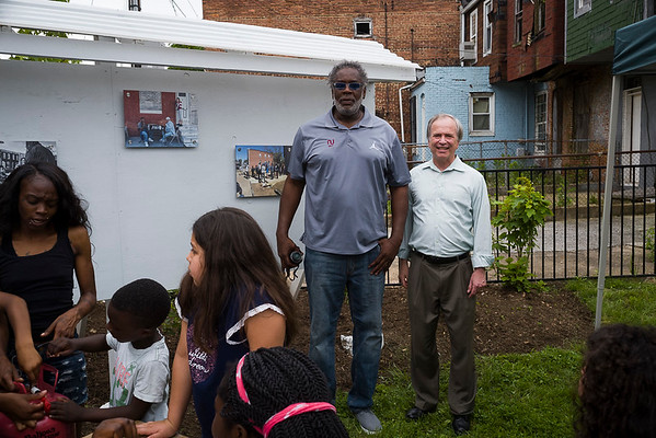Kevin Graham, Founder,  Milton Avenue Improvement Association and Dana Stein, Executive Director Civic Works