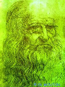 Leonard de Vinci Portrait C-Mouton