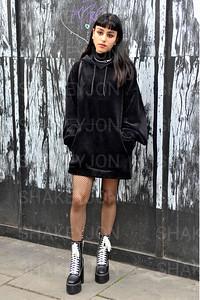 Street style, Spring Summer 2019, London Fashion Week, UK 18 September 2018