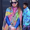 London, UK, Street fashion London Fashion Week 2018 February at the Strand BFC show space. Anna Kompaniets attends - 16 February 2018