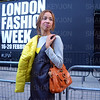 London, UK, Street fashion London Fashion Week 2018 February at the Strand BFC show space. Lydia Preston Sweeney attends - 16 February 2018