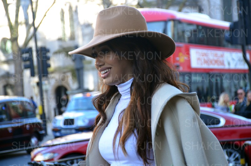 London fashion week, street fashion, arrivals at BFC on the Strand - 17 February 2018