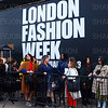 London, UK, Street fashion London Fashion Week 2018 February at the Strand BFC show space. - 16 February 2018
