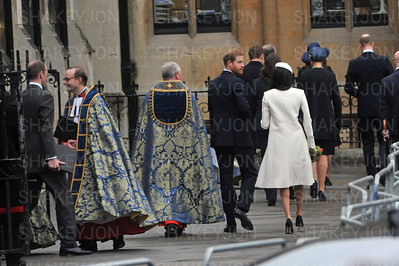 Royals leave Westminster Abbey after Commonwealth Day service.